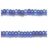 Seedbead 10/0 Mix Blue Sapphire Silver Lined Strung